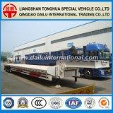 de l'air 3-Axles de suspension de conteneur de transport de Lowboy remorque semi
