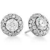 大きい円形のゆとりCZはイヤリング925の銀製の宝石類を散りばめる