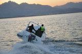 Barca gonfiabile della nervatura del PVC della barca del guscio della vetroresina di Liya 6.2m Hypalon