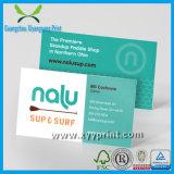 Cartão luxuoso da alta qualidade feita sob encomenda com logotipo da companhia