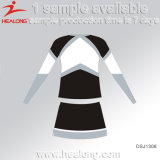 Dames de sublimation d'ODM de vêtements de sport de Healong Cheerleading la robe