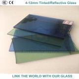vidrio reflexivo azulverde gris de bronce de 12m m con Ce y ISO9001 para la ventana de cristal