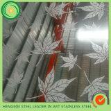 couleur 201 304 316 repérant le panneau de mur décoratif d'acier inoxydable pour le décor du mur 3D