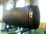 Hoch entwickeltes HDPE strukturierte Wand-Druck-Spirale gewölbte Krah Rohr-Strangpresßling-Zeile mit Dornen