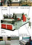 Colorear papel higiénico de la laminación del pegamento el pequeño que hace precio de la máquina