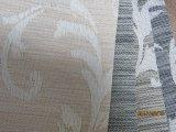 Cortina solar de la cortina de la capa del apagón de la protección solar de rodillo de la tela blanca de las persianas, persiana confeccionada del telar jacquar de Shandes de la ventana solar