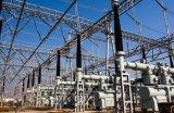 Estructura de acero de la subestación eléctrica de 132 kilovoltios