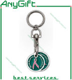 Metal Trolley Token Holder com Customized Logo e Color