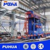Qgw Rollen-Bett-Typ Granaliengebläse-Maschine für Reinigungs-Stahlrohr