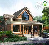 Villa European-Style préfabriquée de Chambre de 2 étages d'OEM avec le grenier