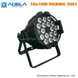 indicatore luminoso di PARITÀ di 18X10W RGBWA 5in1 LED