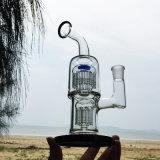 I doppi tubi di fumo dell'acqua di vetro del filtrante per il narghilé godono di (ES-GB-261)