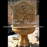 De mooie Fontein van de Travertijn van de Bloem Gouden voor Meubilair mf-702 van de Tuin