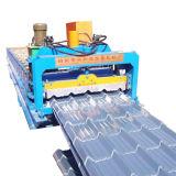 Glasig-glänzendes Dach des Eisen-820 Blatt, das Maschine für Baumaterial herstellt