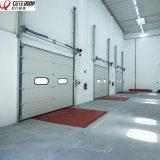 Моторизованный алюминий изолировал замороженная Tempered полную - дверь гаража взгляда надземная