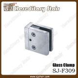 Струбцина нержавеющей стали D-Формы стеклянная для штуцера поручня (SJ-F307)
