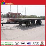 Complètement 2 remorque de barre d'attelage de transport de conteneur du bâti plat 20FT d'essieux