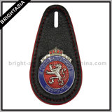 Titular de la insignia de cuero genuino para Emblema del ejército (BYH-10028)