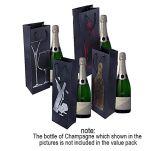 Подарок бутылки вина кладет бумажный мешок в мешки подарка вина с подгонянным мешком подарка бумаги бутылки вина печатание цвета логоса и печатание