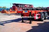 容器のトレーラー、工場価格の三車軸40FT平面のトレーラー