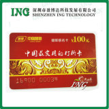 Cartão da cópia do PVC, cartão da cópia do tamanho do crédito, cartão da cópia do laser