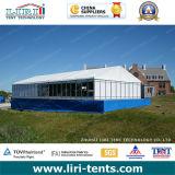屋外の結婚披露宴に使用する9X6mの玄関ひさしのテント