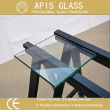 plank van het Glas van 312mm de Meubilair Aangemaakte met Gaten, Ronde Hoeken