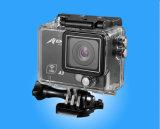 2 камера действия дюйма 1080P с объективом 120 градусов широкоформатным