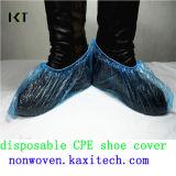 Tampa médica antiderrapagem não tecida descartável Kxt-Sc08 feito pronto da sapata de PP/PE/CPE