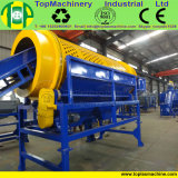 Animal doméstico de la alta capacidad que machaca la línea para reciclar las botellas plásticas que se lavan con la arandela caliente