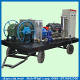 pompe à haute pression de nettoyage de la pipe 100MPa de pompe industrielle de nettoyage