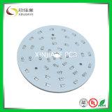 Placa redonda do PWB do diodo emissor de luz da máscara branca da solda