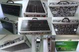 caixa portátil solar da mala de viagem do sistema de energia 10W com FM MP3 de rádio