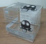 Rectángulo transparente plegable de pila de discos del PVC del plástico (HG-PB011)