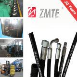 Boyau hydraulique de tresse à haute pression d'en DIN de SAE 100r2at 2sn