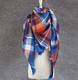 正方形のカシミヤ織のふさの格子縞のスカーフのスカーフの大きいショールPashmina