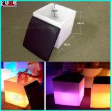 """16 """"再充電可能なLEDの立方体W/Colorの変更のリモート開いた立方体"""