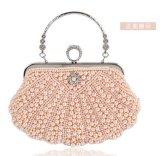 De elegante Handtas van de Koppeling van de Partij van de Avond van het Huwelijk van het Kristal van de Parel (ldo-01656)