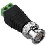 BNC Male Adaptor à Coaxial Power Jack Connector pour la télévision en circuit fermé