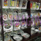 Glühender Aluminiumfolie-Ofen-Tellersegment-Behälter mit Kappen (AFC-006)