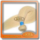 100% unverarbeiteter blonder brasilianischer Haar-Einschlagfaden