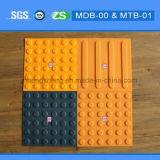 Azulejo táctil de goma plástico durable que pavimenta los azulejos al aire libre antirresbaladizos