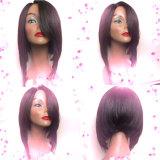 Парик шнурка Bob Glueless человеческих волос девственницы способа бразильский полный