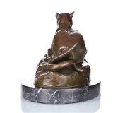 Dierlijk Standbeeld tpal-088 van het Messing van de Ambacht van de Decoratie van de Luipaard van het Beeldhouwwerk van het Brons