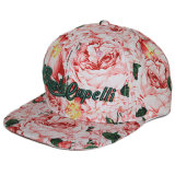Custom Cotton Floral Floral Snapback Hat com bordado
