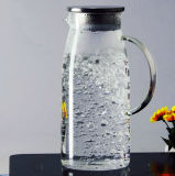 大きい容量のガラスティーポットジュースの水差しジュースのやかん
