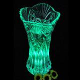 Schöner transparenter Glasgroßhandelskristallvase der blumen-2016 für Hauptdekoration