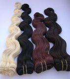 Double Drawn European Remy Máquina de cabelo humano Weft / Weaving