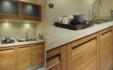 Diseño de aluminio clásico de 2016 de la puerta de madera sólida gabinetes de cocina