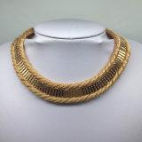 金によってめっきされる編みこみのチェーン簡単な様式の方法宝石類(XJW13692)